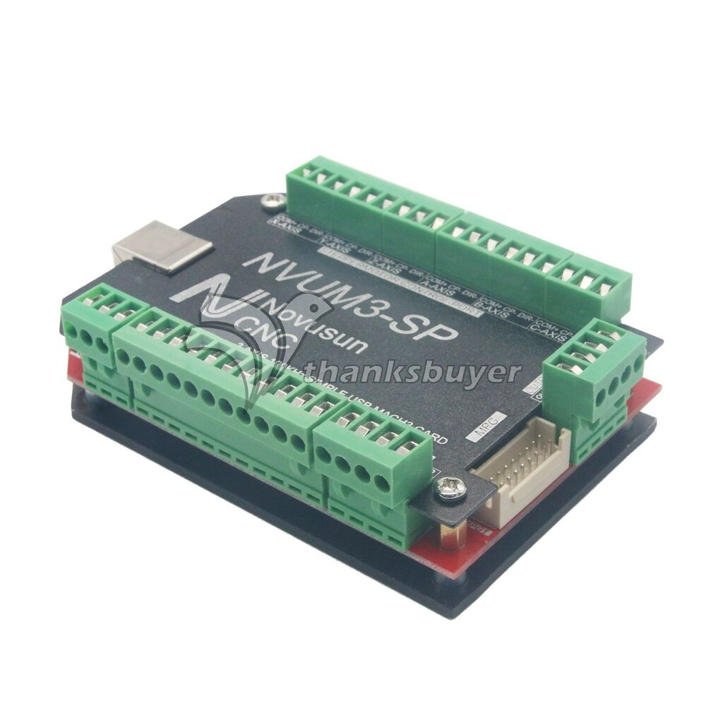 Cnc usb mach3 breakout board 3 axis controller 100khz for for Best stepper motor for cnc