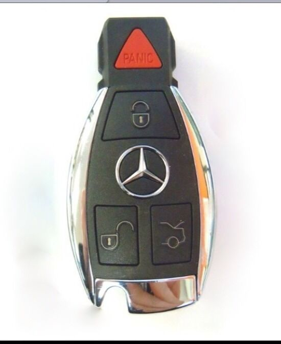 Oem mercedes benz smart key remote fob keyless chrome c e for Mercedes benz remote key