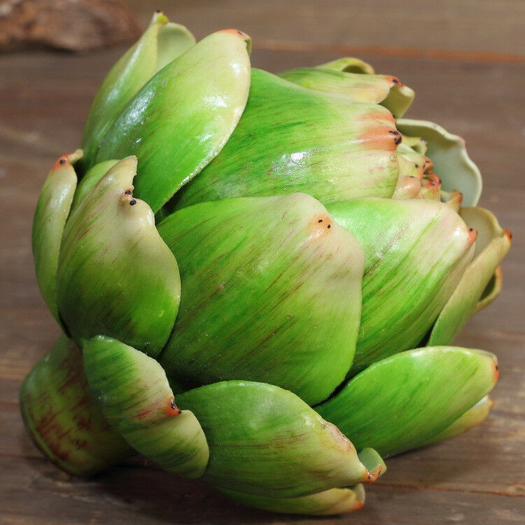 Fake plant artichoke home decor potted globe lifelike for Artichoke decoration