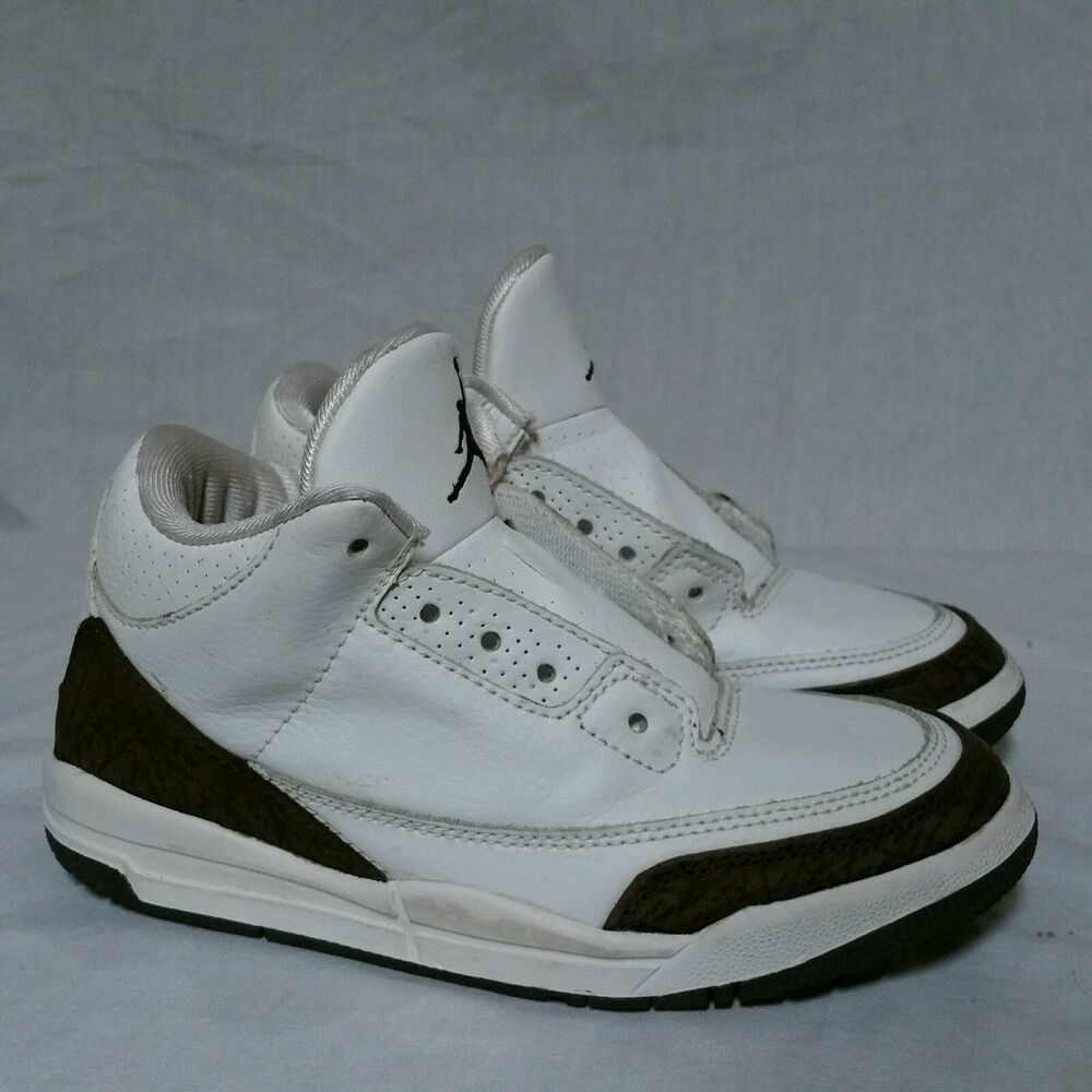 29ef1d8458a99c Details about Nike Air Jordan 3 iii Mocha OG 2001 Cement White Fire Red 89 True  Blue Size 2 Y