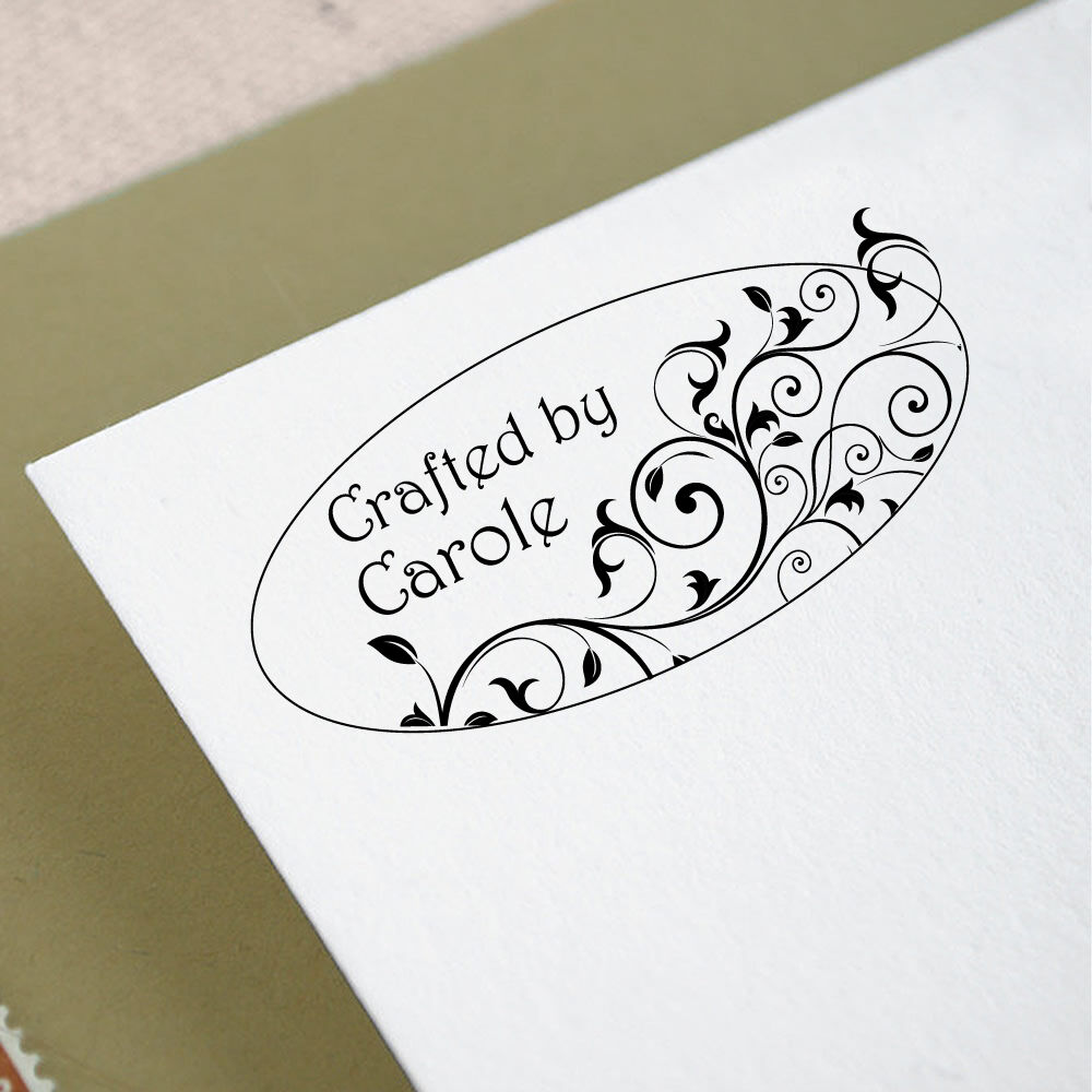 Personalized custom address mounted rubber stamp re03 ebay for Custom craft rubber stamps