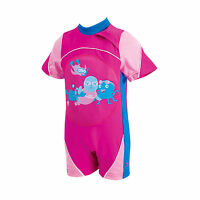 Zoggs Miss Zoggy Swimfree Infant Girls Swimming Swimsuit Floatsuit Pink