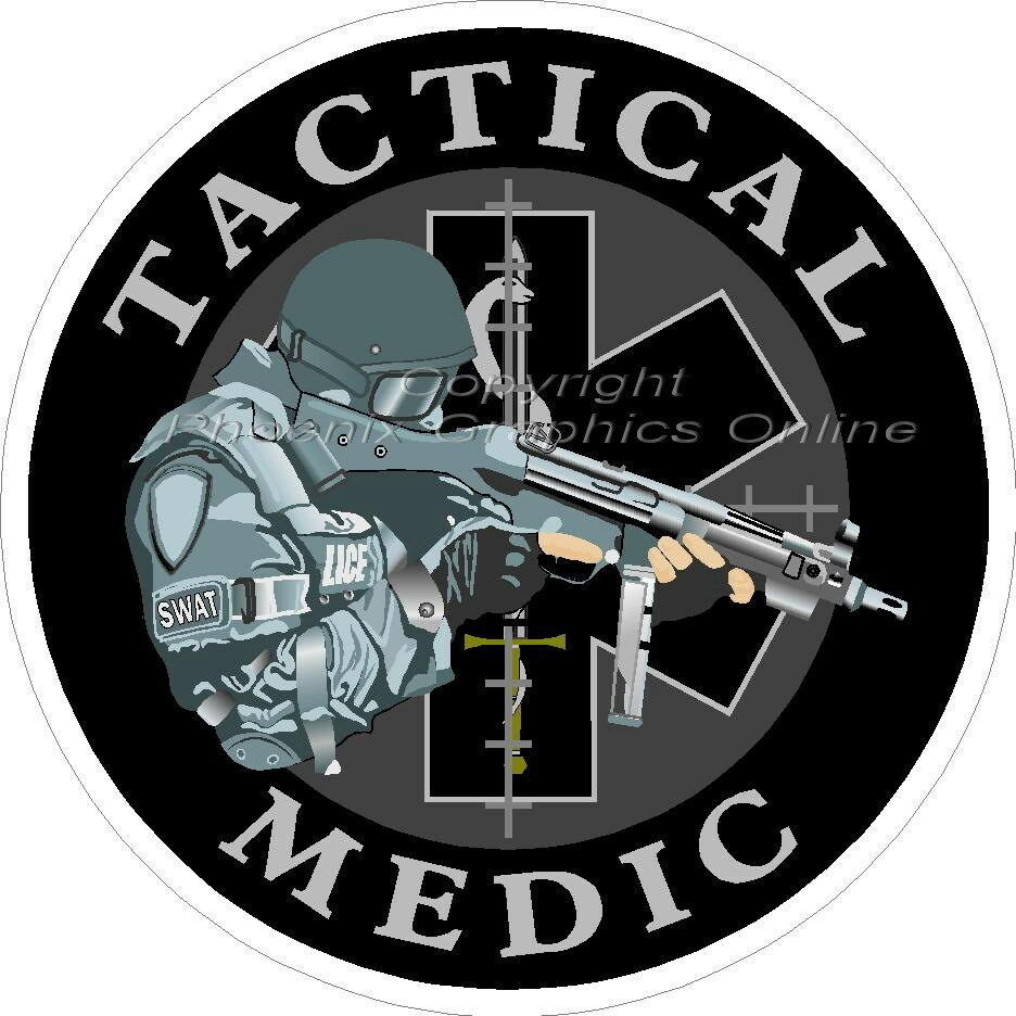 Tactical Medic Star of Life Reflective Decal Sticker SWAT EMS Paramedic  Police   eBay