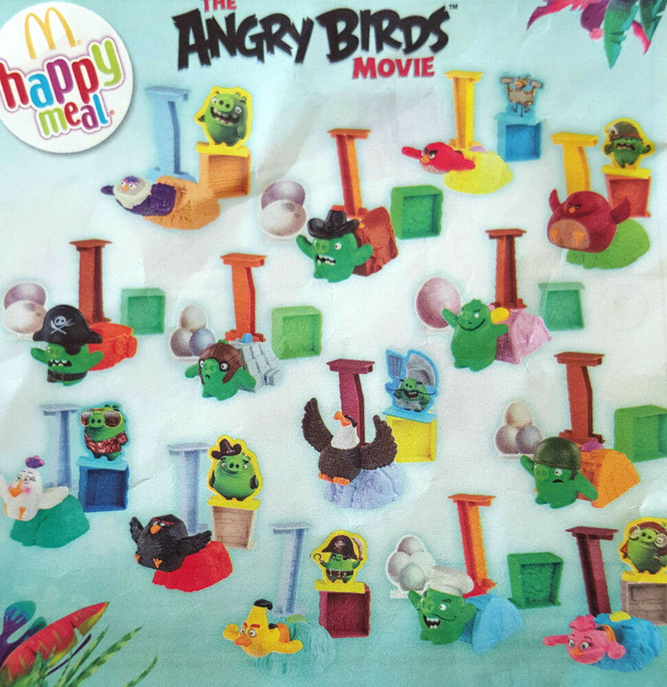 Now available complete set of 14 mcdonalds 2016 angry birds launcher toys bnip 39 s ebay - Angry birds toys ebay ...