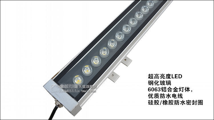 18x1W 50cm LED Wall Washer Light Lamp White Warm White RGB Color Outdoo