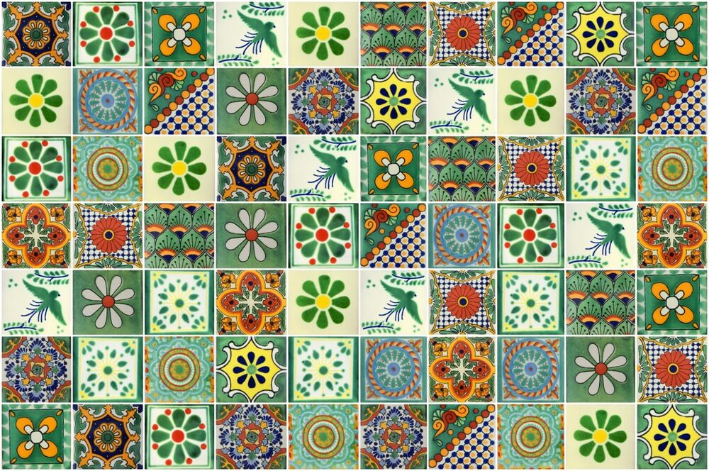 Green Designs Mexican Tile Handmade Talavera Backsplash