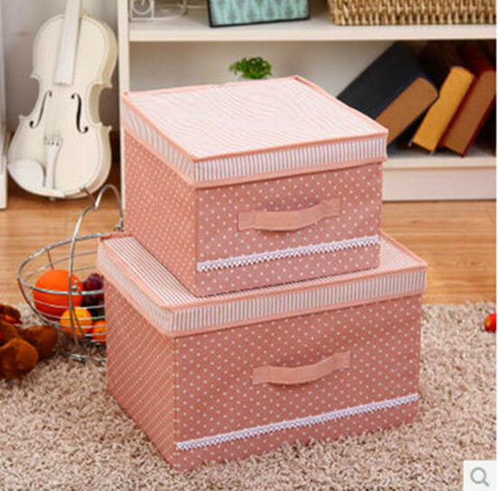 cloth toy organizer storage box with lid foldable home. Black Bedroom Furniture Sets. Home Design Ideas