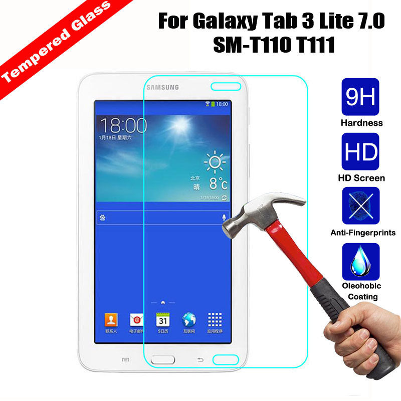 for samsung galaxy tab 3 lite 7 0 sm t110 t111 tempered glass screen protector ebay. Black Bedroom Furniture Sets. Home Design Ideas