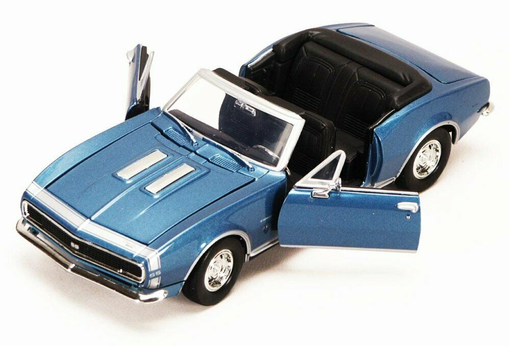 1967 chevy camaro ss blue motormax 73301 1 24 scale