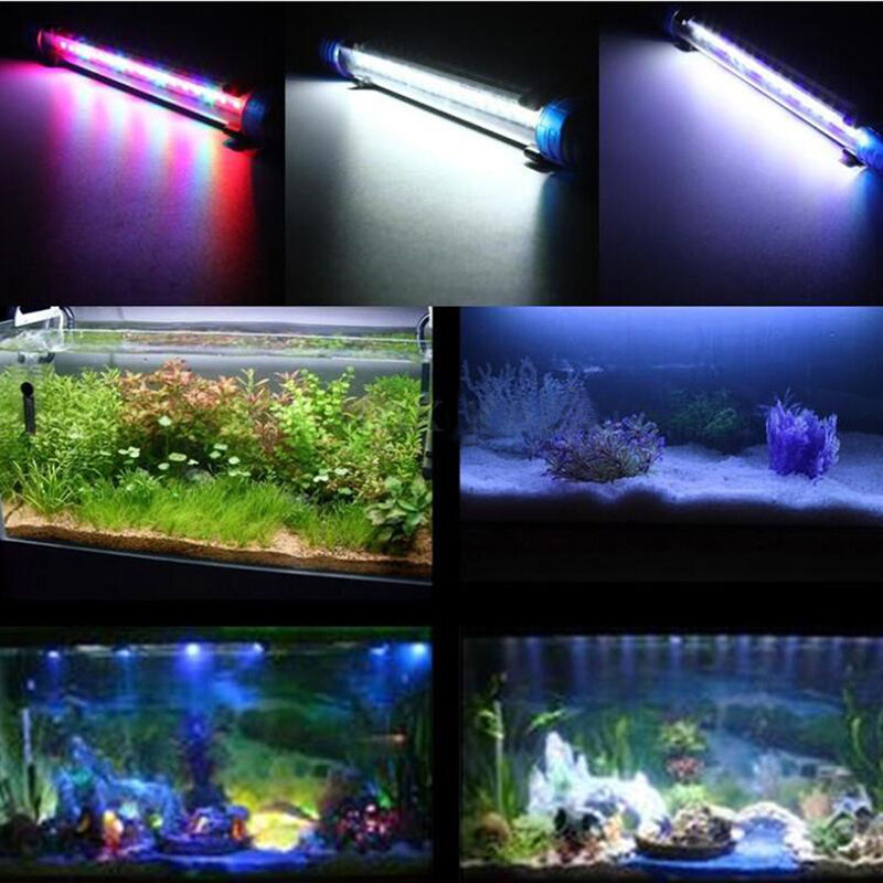 20 60cm 1w 1 5w 2w 2 5w 3w aquarium fish tank rgb led. Black Bedroom Furniture Sets. Home Design Ideas