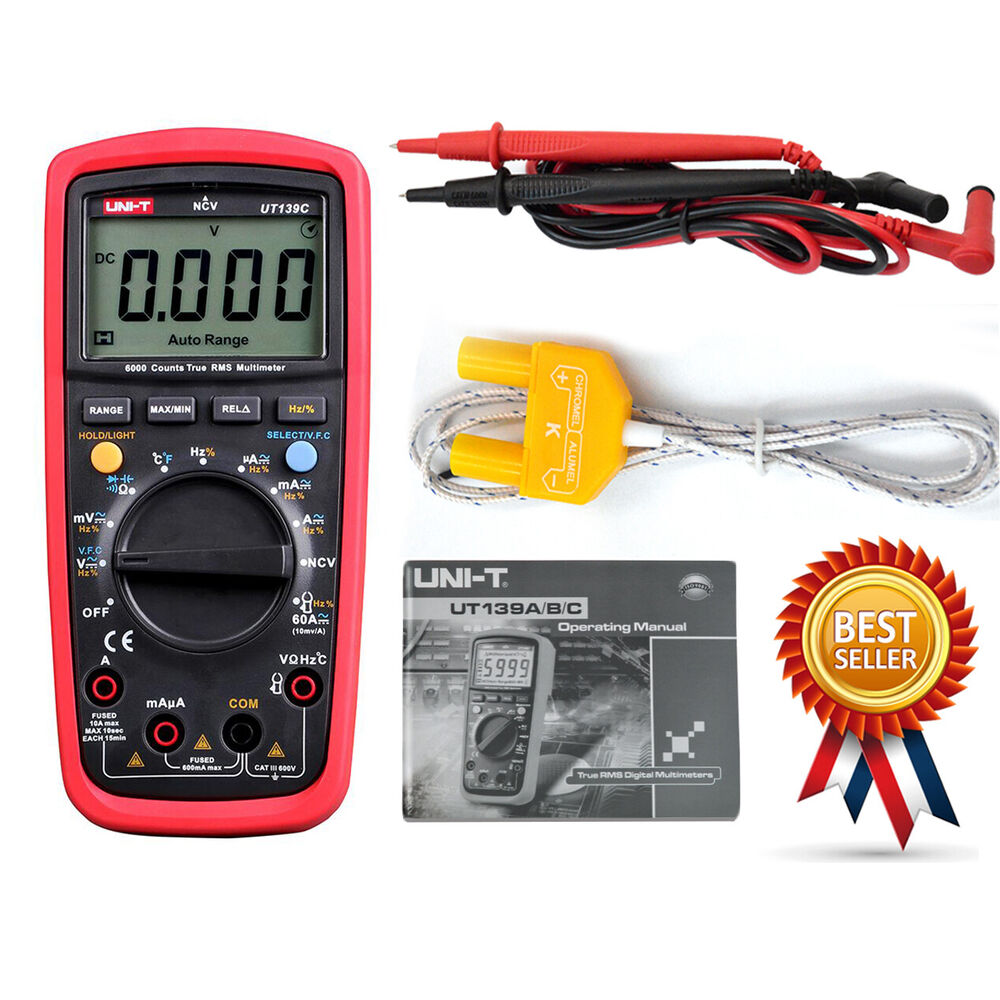Uni T Ut139c True Rms Lcd Digital Auto Range Multimeter Ac Dc Tester Test Car Fuse Box Meter 711707219052 Ebay