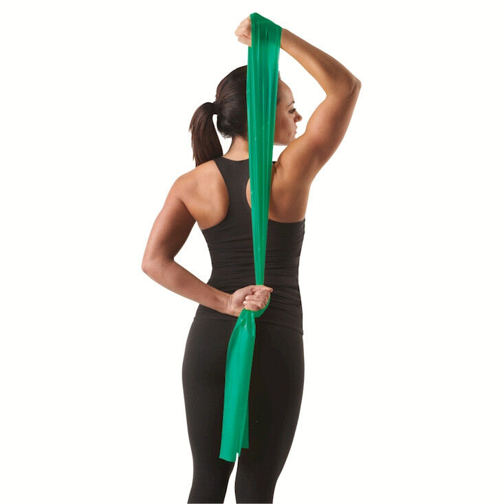 THERA-BAND 5FT INDIVIDUAL LATEX BAND (HEAVY / GREEN) FLAT
