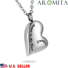 Grandpa Forever in My Heart Cremation Jewelry Keepsake Memorial Urn Necklace