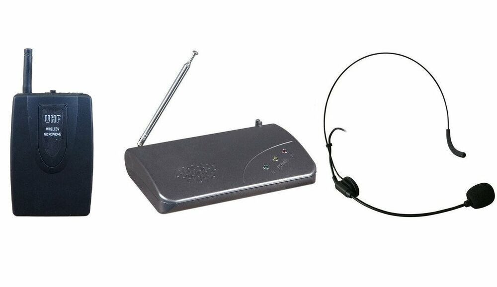 uhf single channel wireless headset microphone system for shure sm58 wireless ebay. Black Bedroom Furniture Sets. Home Design Ideas