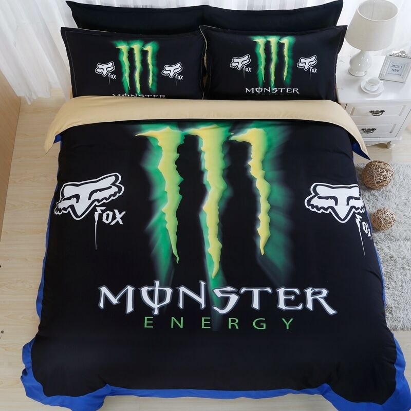 3d Monster Energy Duvet Cover Set Bedding Set Bedclothes