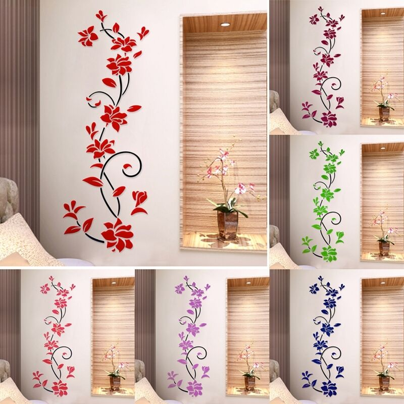 3d Flower Removable Vinyl Quote Diy Wall Sticker Decal Mural Home Room Decor Fn Ebay