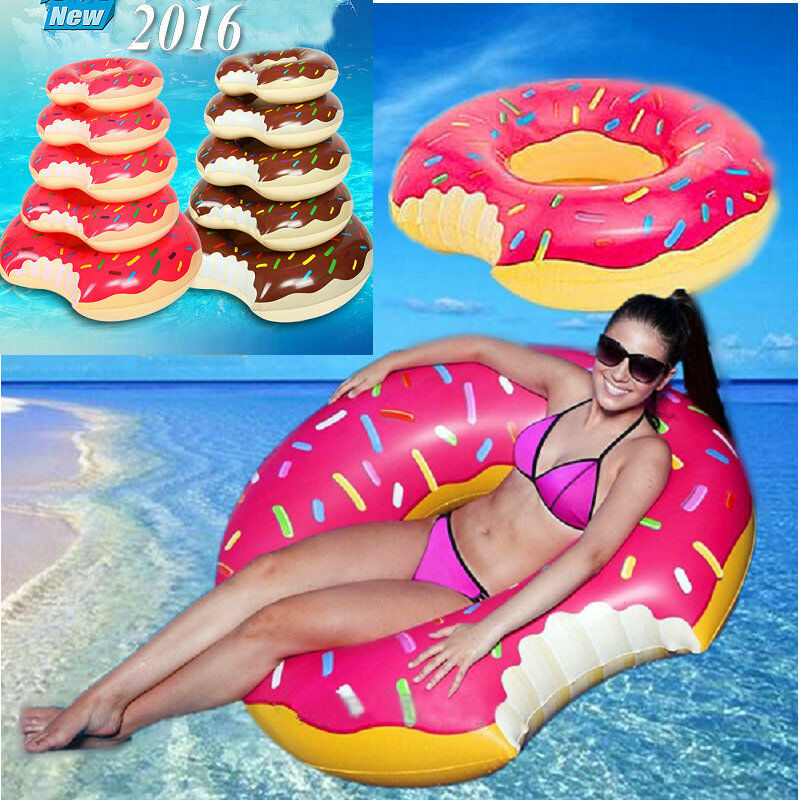 Donut Pool Float Inflatable Swimming Ring Floating Bed Lounge Chair