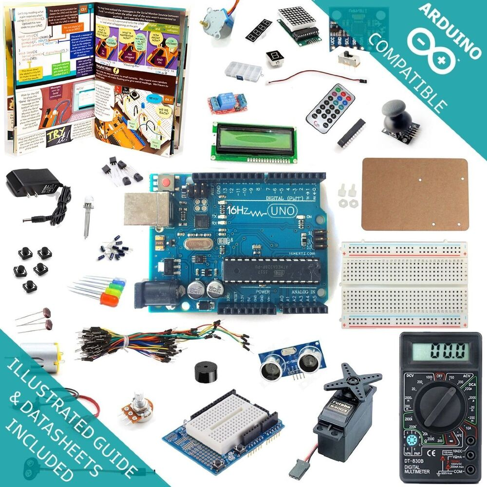 Uno r ultimate starter kit breadboard shield sensor