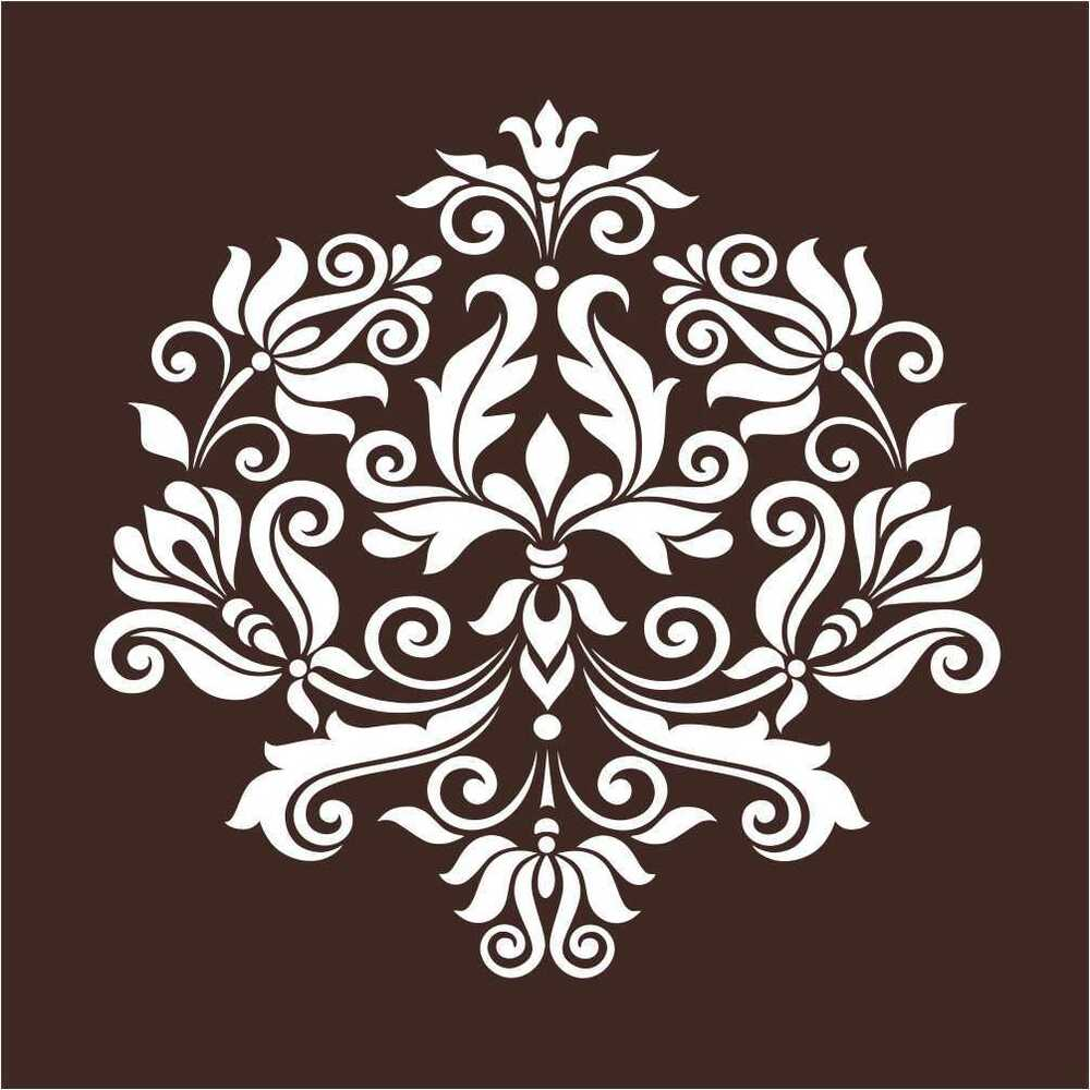 Large Wall Damask Stencil Pattern Home Decor