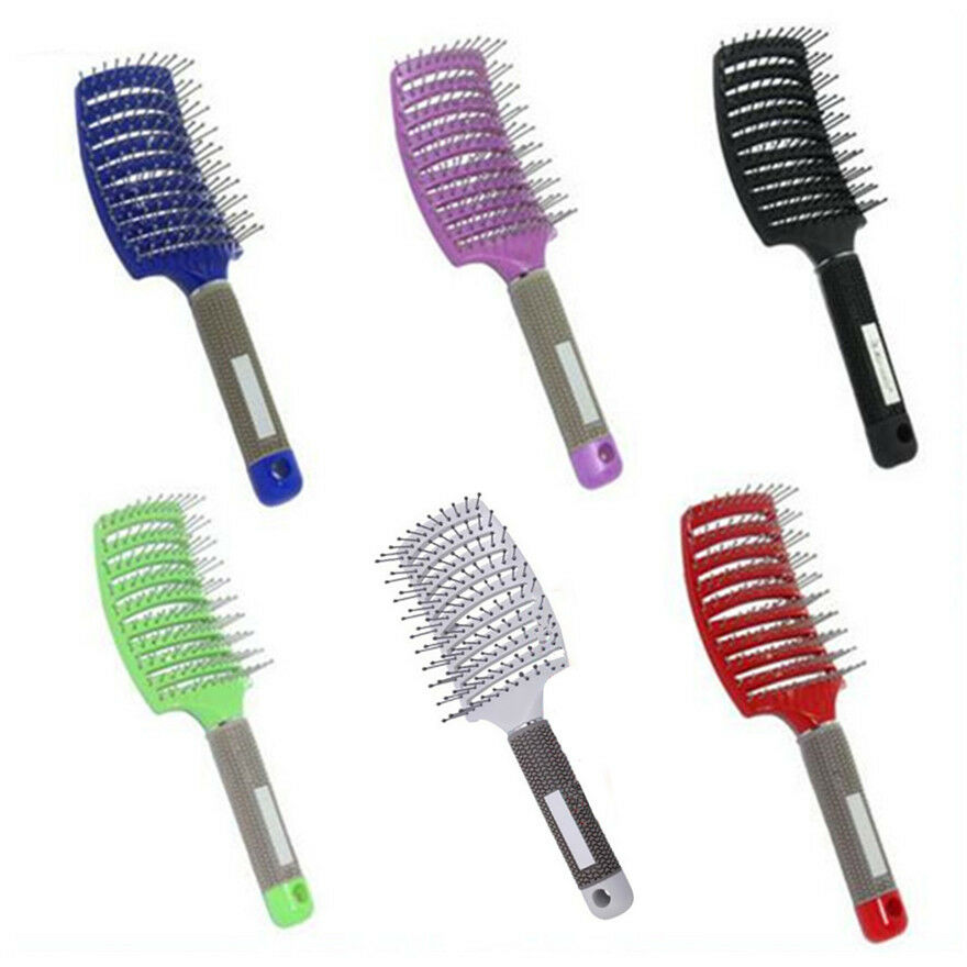 Salon curved rows hairdressing hair tine comb brush barber for Salon hair brushes