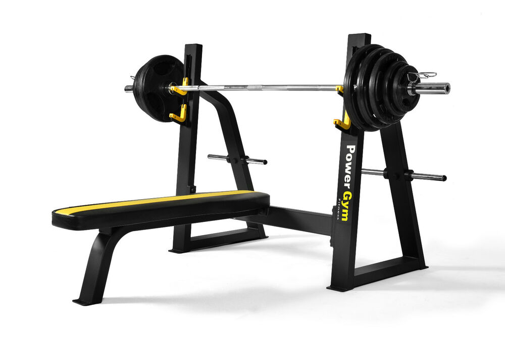 New powergym fitness commercial olympic flat bench press not incline decline ebay - Incline and decline bench press ...
