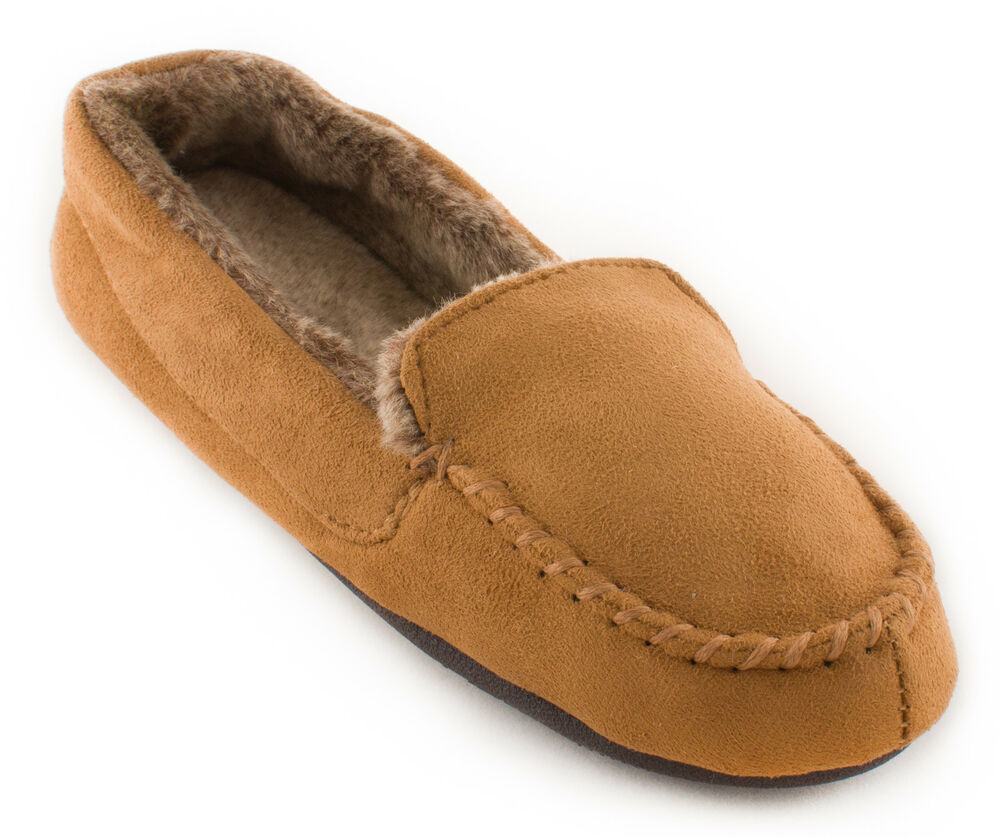 bff19c596 ISOTONER Women's Woodlands Microsuede Moccasin Slippers | eBay
