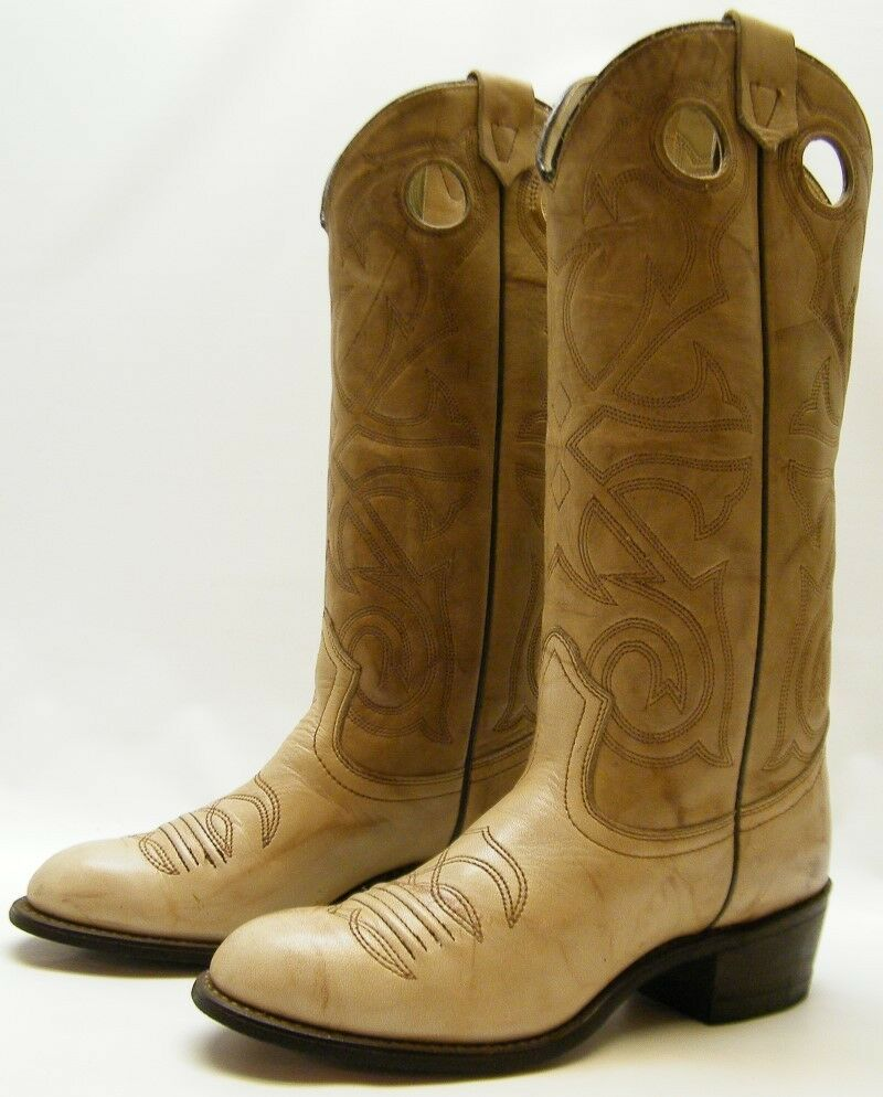 Perfect Lucchese N9542.C2 Womens Cognac Brown Leather Cowboy Roper Boots Made In USA | EBay