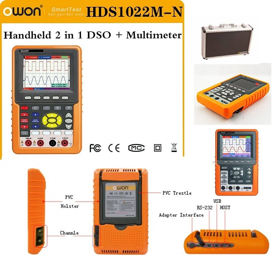 Details about  Owon HDS1022M-N  2channel 20MHz 100MS/s Handheld Digital  Storage Oscilloscope