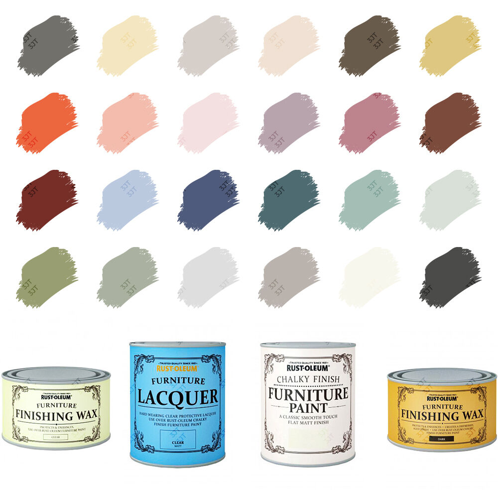 Rust-Oleum Chalky Chalk Furniture Paint Matt Finishing Wax Lacquer ...