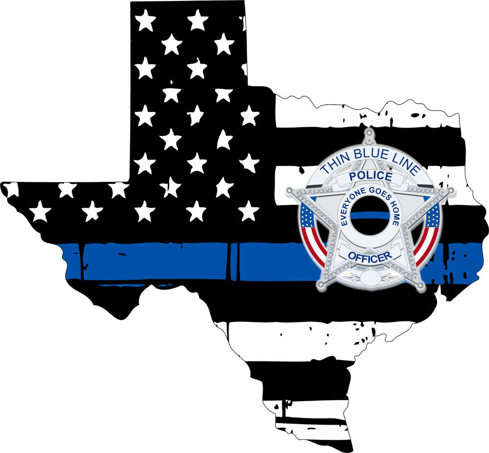 Star Motors Houston >> Thin Blue line decal - State of Texas POLICE BLUE STAR ...