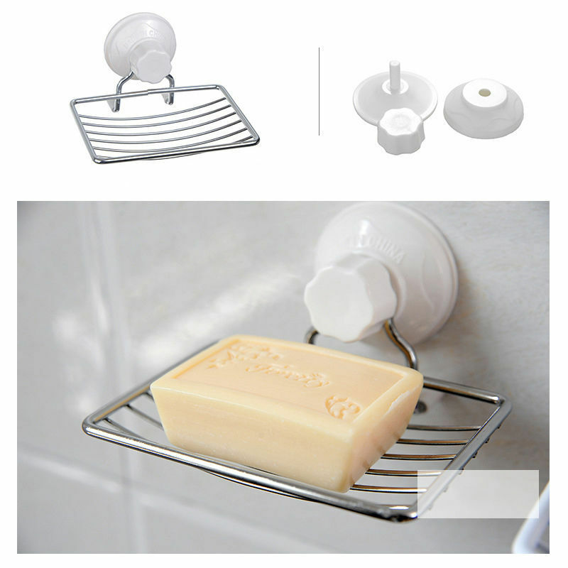 Wall Suction Cup Bathroom Bath Shower Stainless Steel Soap
