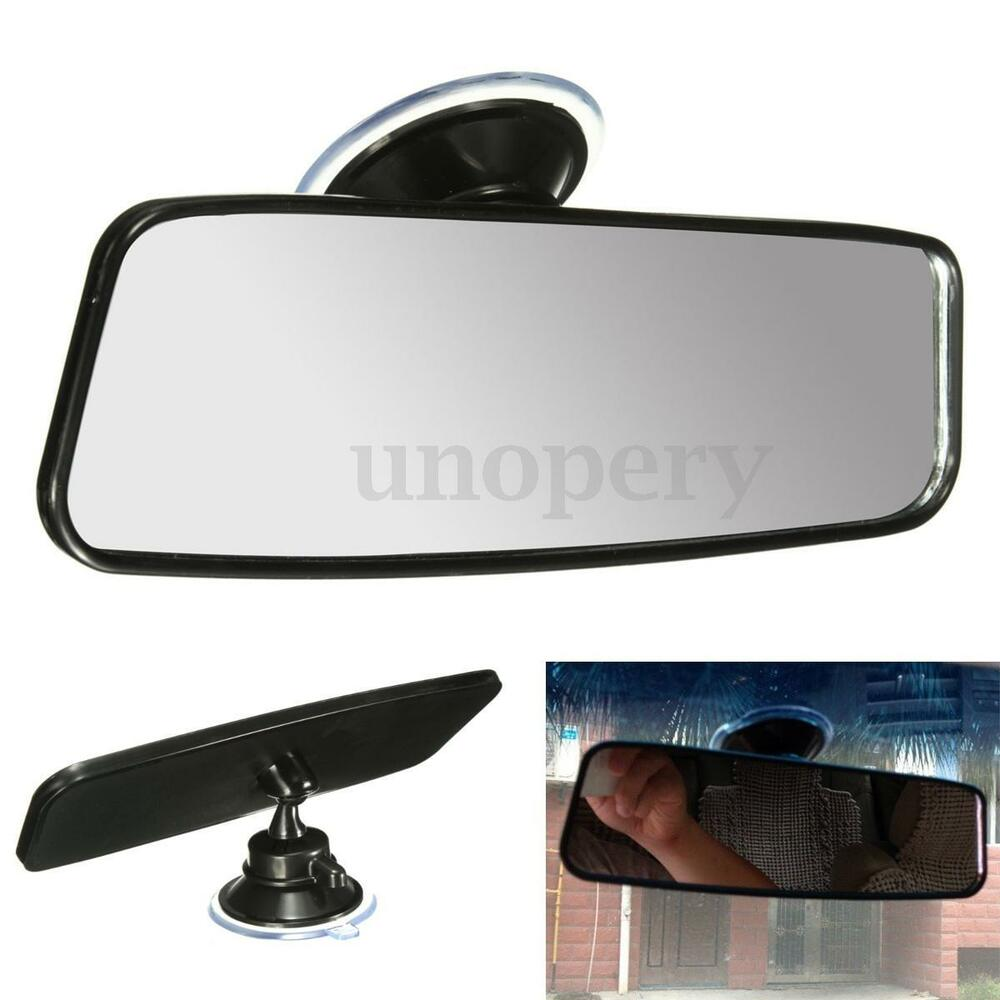 car truck wide curve convex interior suction stick panoramic rear view mirror ebay. Black Bedroom Furniture Sets. Home Design Ideas