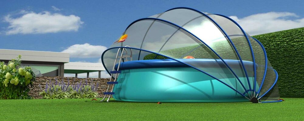sunnytent poolabdeckung 4 40 m poolplane pooldome pool. Black Bedroom Furniture Sets. Home Design Ideas