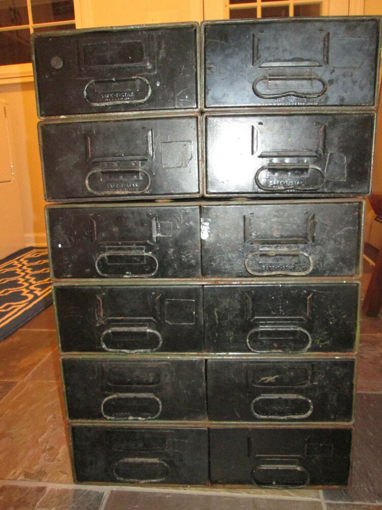 metal cabinet with drawers vintage safe t stak diebold 12 drawer steampunk industrial 23229