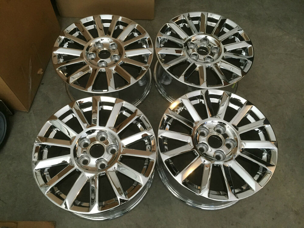 cabinet on wheels cadillac cts 2010 2014 factory chrome oem 17 inch wheels 12983