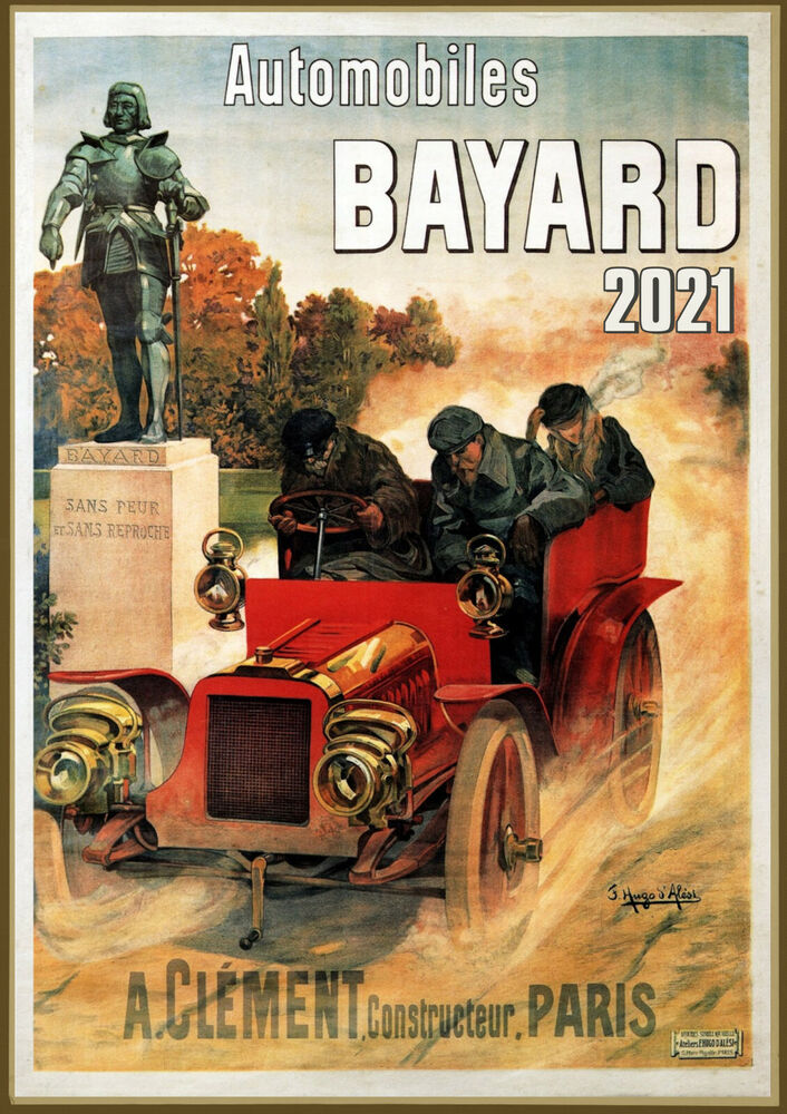 Wall Calendar 2017 12 pages A4 Automobile Cars Ads ...