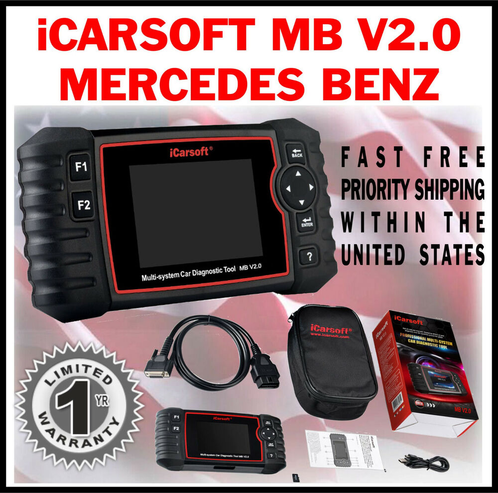 Mercedes benz icarsoft mbii new version engine diagnostic for Mercedes benz scan tool