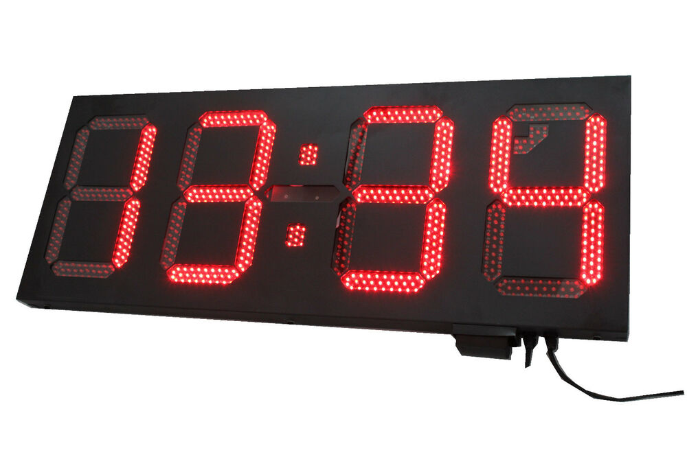 12 Quot Led Digital Countdown Timer Outdoor Wall Mounted Clock