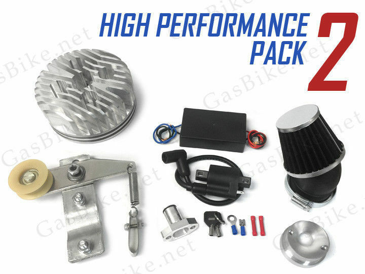 Performance pack 2 66 80cc gas motorized bicycle ebay for Motorized bicycle repair shop