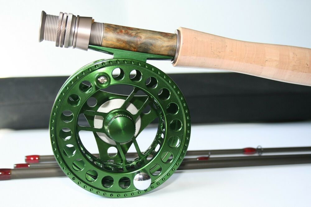 The cipher im12 9 39 0 5 weight fly rod and reel combo ebay for Trout fishing rod and reel