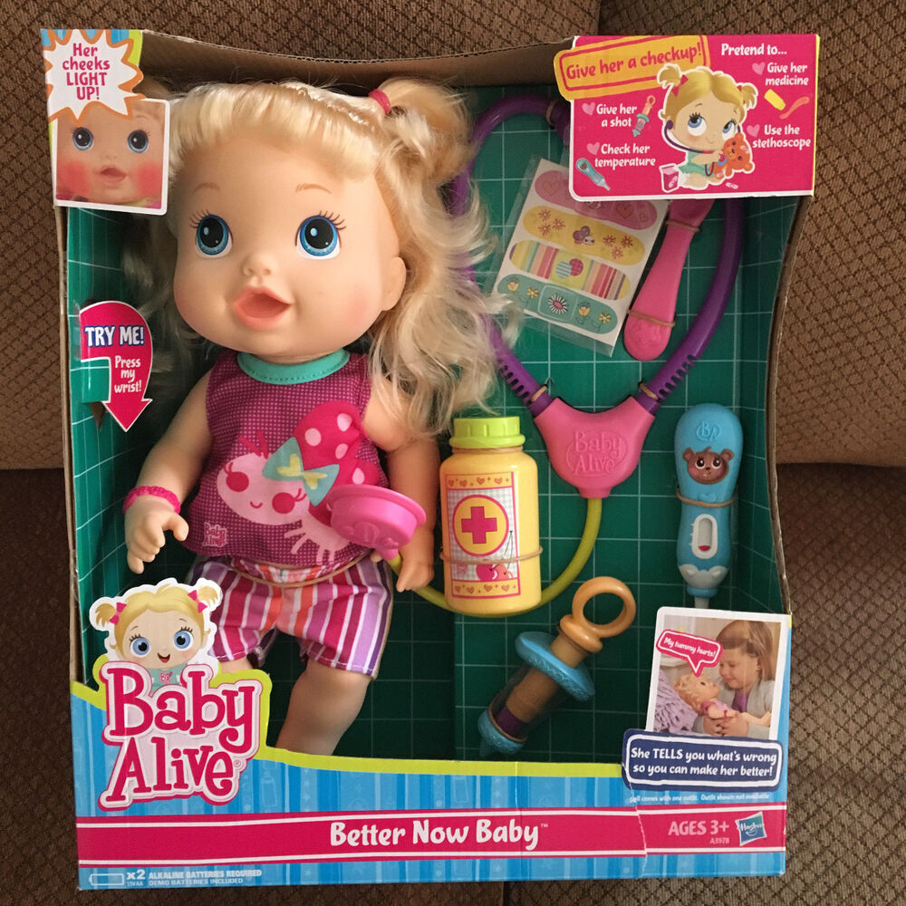 Baby Alive Better Now Baby Doll W Play Stethoscope By