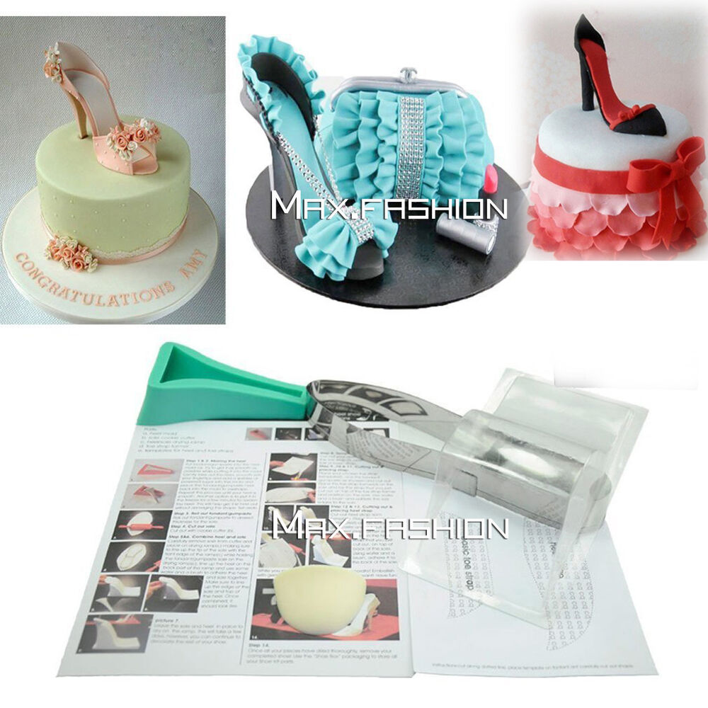 Cake Making Kits Fondant : High Heel Shoe Kit Silicone Fondant Mould Wedding Cake ...
