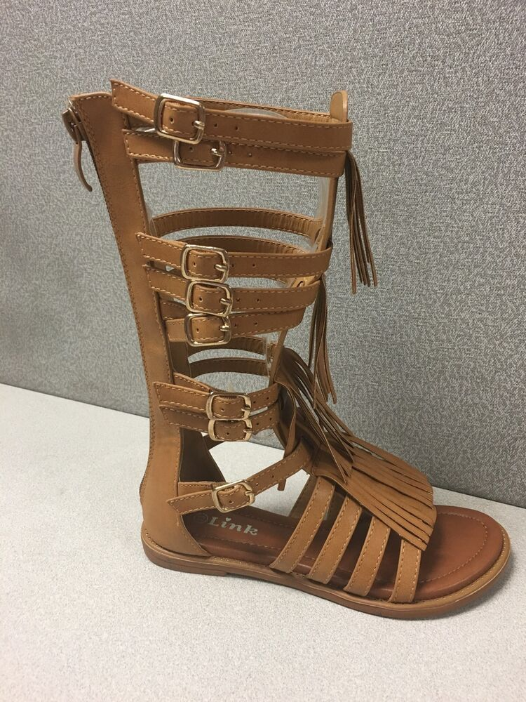 New Fashion Shoes Girls Kids Gladiator Fringe Sandals