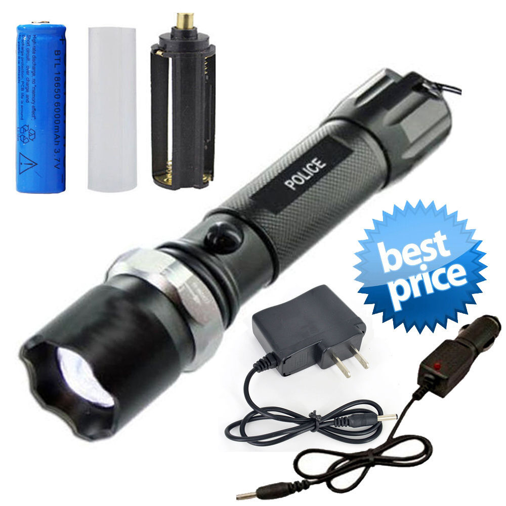 Tactical Police Heavy Duty 5W Rechargeable Flashlight