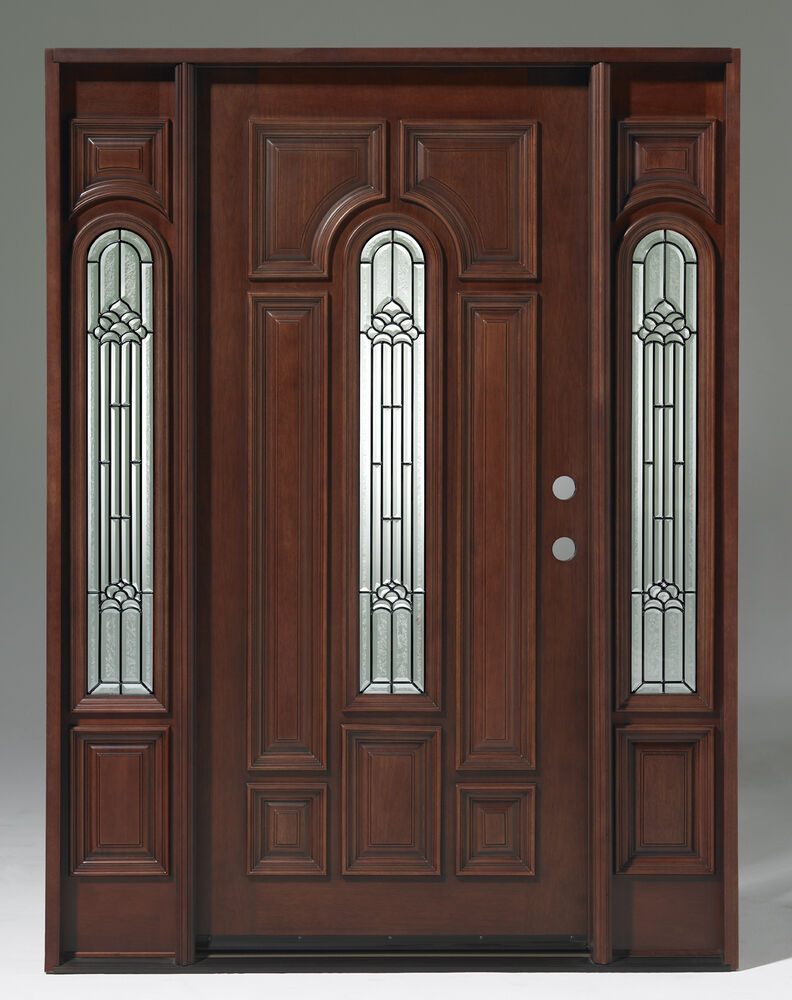 Summer sale solid wood mahogany pre hung finished for Solid wood exterior doors for sale