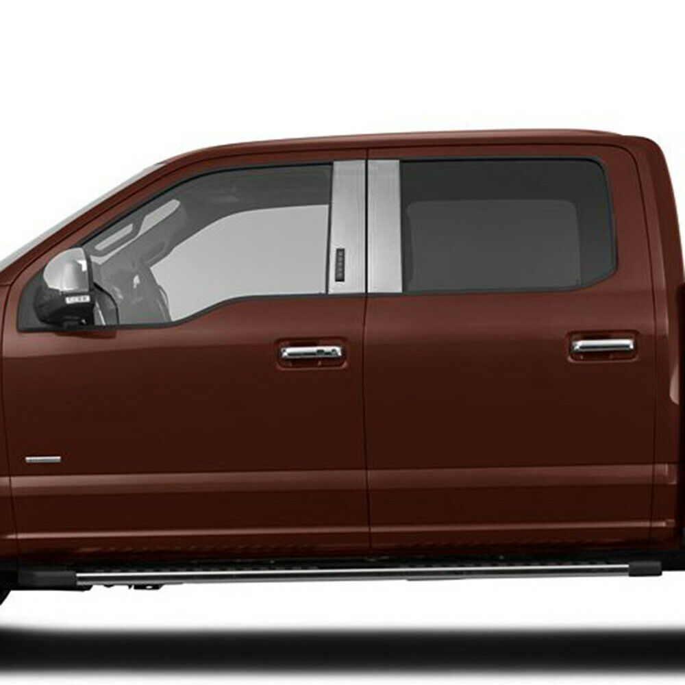 Chrome Pillar Post Covers W/Keypad For 2015-2016 Ford F
