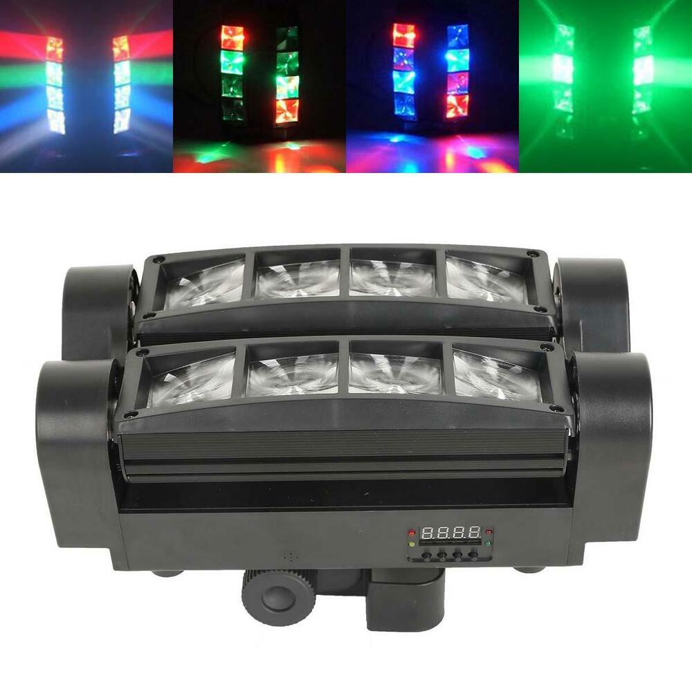 Led Wall Dj Light: 8X10W LED Spider Moving Head Light RGBW 4 In 1 Beam DMX