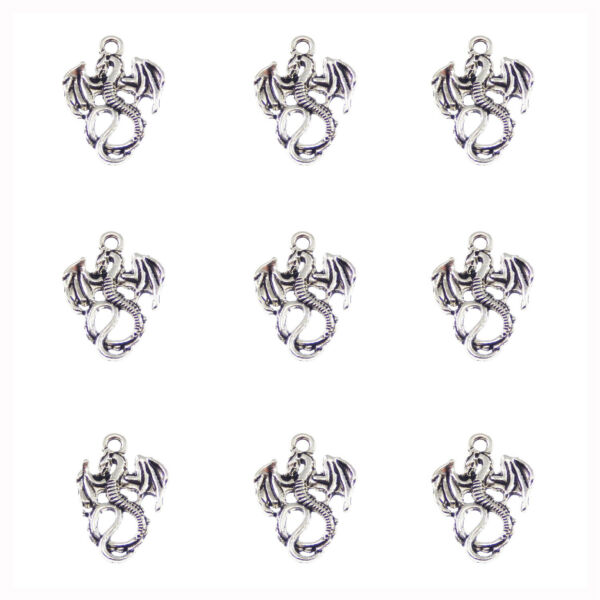 24pcs Vintage Silver Alloy Preying Lion Pendant Charms Jewelry Crafts 50682