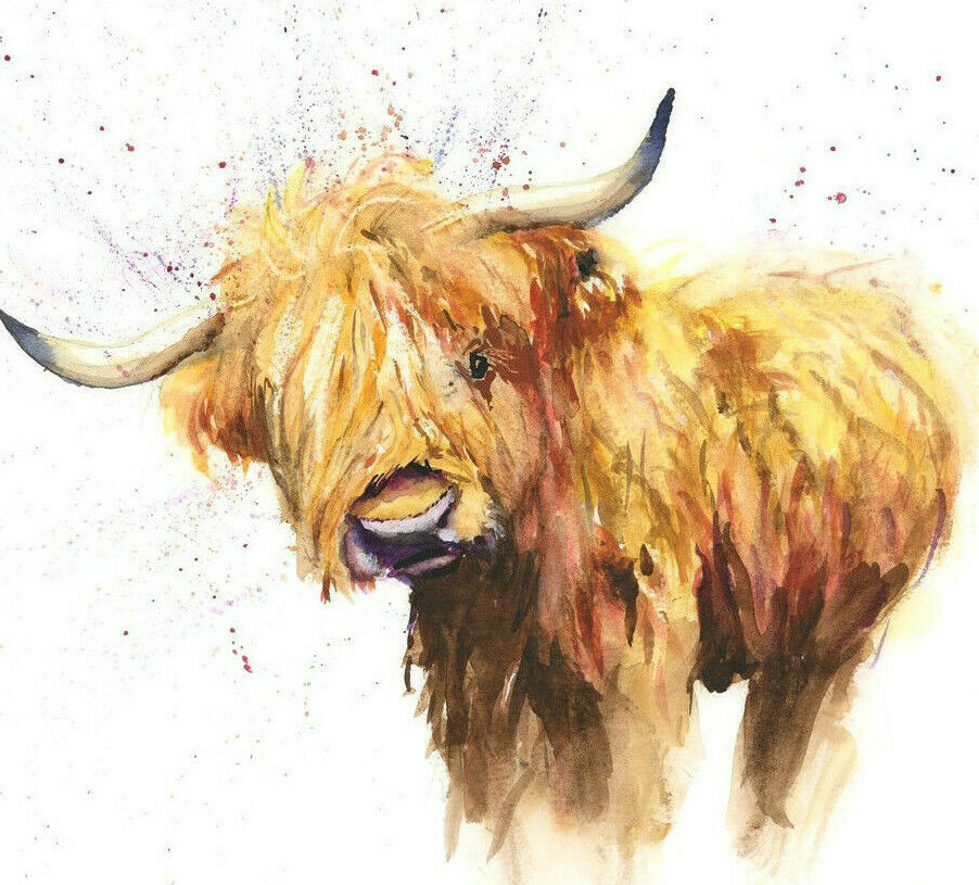 Helen Rose Limited Print Of My Highland Cow Animal Art