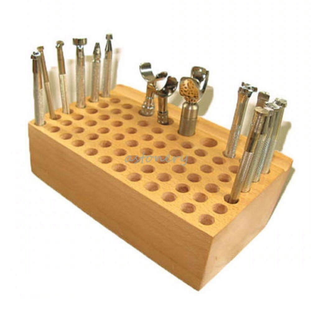 Wood tool rack stamp stand leather stamps tools craft